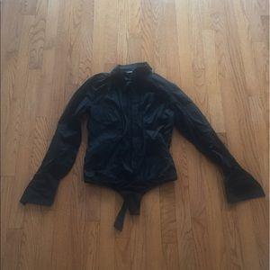 Moda İnternatilonal Black Button Down Shirts S:S.